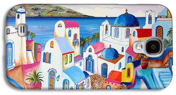 Santorini Greece Galaxy S4 Case by Roberto Gagliardi