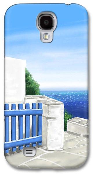 Island Galaxy S4 Cases - Santorini Galaxy S4 Case by Veronica Minozzi