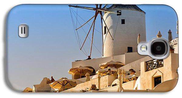 Old Mill Scenes Photographs Galaxy S4 Cases - Santorini Windmill 05 Galaxy S4 Case by Antony McAulay