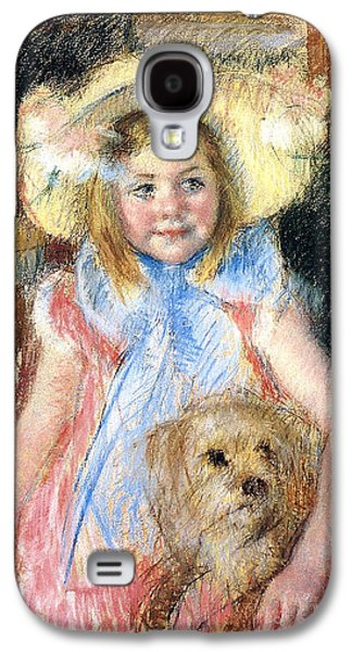 Youthful Galaxy S4 Cases - Sara and her Dog Galaxy S4 Case by Mary Stevenson Cassatt
