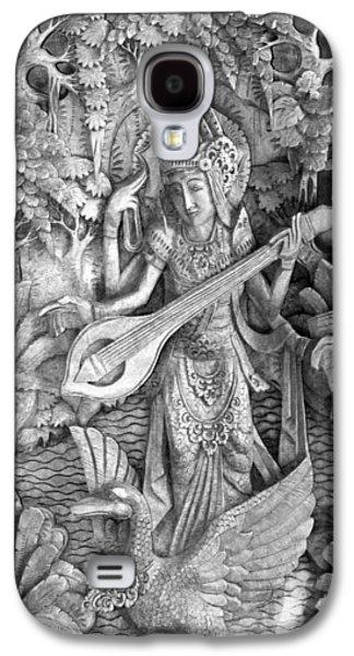 Hindu Goddess Photographs Galaxy S4 Cases - Saraswati - Supreme Goddess Galaxy S4 Case by Karon Melillo DeVega