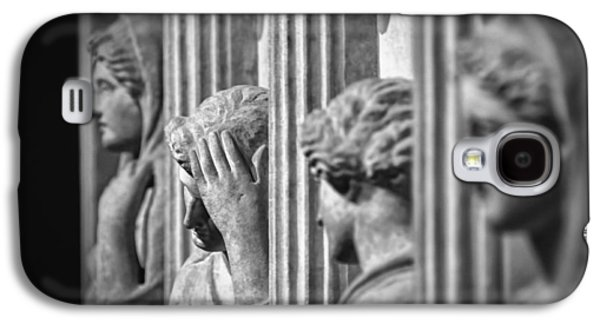 Greek Sculpture Galaxy S4 Cases - Sarcophagus of the Crying Women II Galaxy S4 Case by Taylan Soyturk