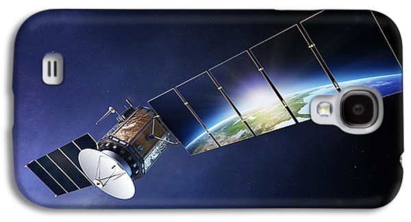 Panel Galaxy S4 Cases - Satellite communications with earth Galaxy S4 Case by Johan Swanepoel