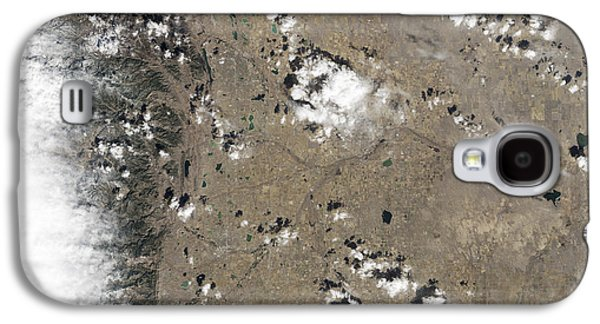 Fort Collins Galaxy S4 Cases - Satellite View Of Fort Collins Galaxy S4 Case by Stocktrek Images