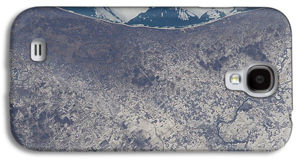 Indiana Landscapes Photographs Galaxy S4 Cases - Satellite View Of South Bend, Indiana Galaxy S4 Case by Stocktrek Images