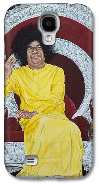 Baba Paintings Galaxy S4 Cases - Sathya Sai Baba  Galaxy S4 Case by Tim Gainey