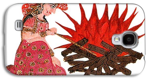 Hindu Goddess Photographs Galaxy S4 Cases - Sati, Hindu Goddess Galaxy S4 Case by Photo Researchers