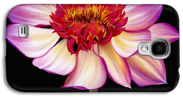 Botanical Pastels Galaxy S4 Cases - Satin Flames Galaxy S4 Case by Laura Bell