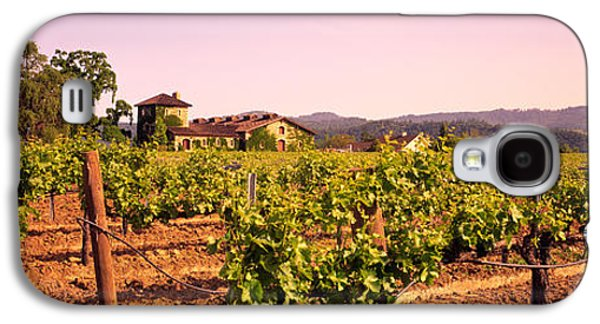 Grapevines Photographs Galaxy S4 Cases - Sattui Winery, Napa Valley, California Galaxy S4 Case by Panoramic Images
