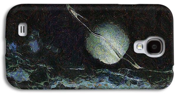 Science Fiction Drawings Galaxy S4 Cases - Saturn-y Galaxy S4 Case by Ayse Deniz