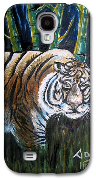 The Tiger Paintings Galaxy S4 Cases - Save The Tiger Galaxy S4 Case by Soumya Suguna