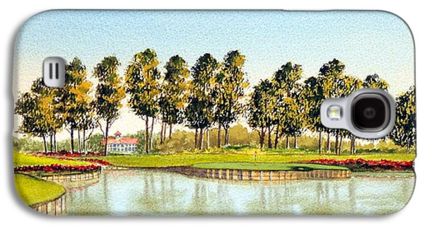 The Tiger Paintings Galaxy S4 Cases - Sawgrass 17Th Hole Galaxy S4 Case by Bill Holkham