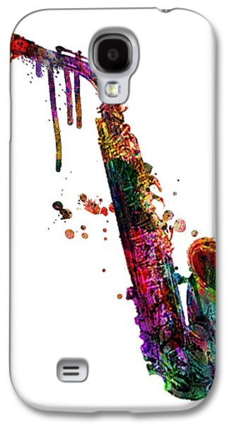 Animation Galaxy S4 Cases - Saxophone 2 Galaxy S4 Case by Mark Ashkenazi