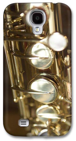 Saxophone Photographs Galaxy S4 Cases - Saxophone Close Up Galaxy S4 Case by Jon Neidert