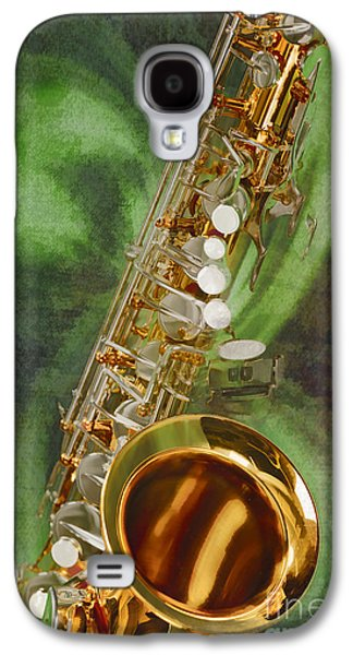 Saxophone Photographs Galaxy S4 Cases - Saxophone Instrument Painting Music  in Color 3253.02 Galaxy S4 Case by M K  Miller