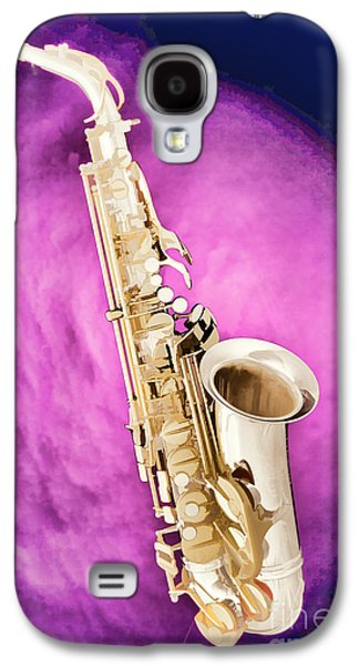 Saxophone Photographs Galaxy S4 Cases - Saxophone Jazz Instrument Bell Painting in Color 3272.02 Galaxy S4 Case by M K  Miller