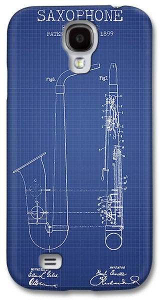 Saxophone Patent From 1899 - Blueprint Galaxy S4 Case by Aged Pixel