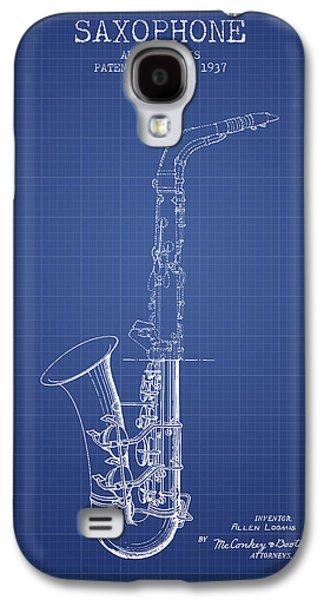 Saxophone Patent From 1937 - Blueprint Galaxy S4 Case by Aged Pixel