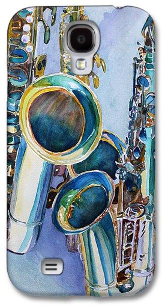 Watercolour Art Galaxy S4 Cases - Saxy Trio Galaxy S4 Case by Jenny Armitage