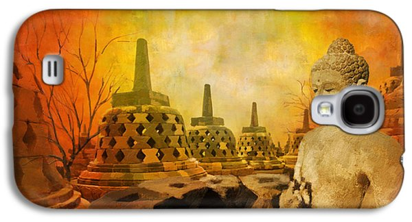 Museum Paintings Galaxy S4 Cases - Sborobudur Temple Compounds Galaxy S4 Case by Catf