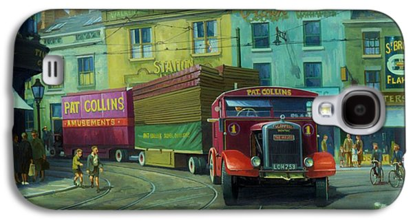 Streetscenes Paintings Galaxy S4 Cases - Scammell Showtrac Galaxy S4 Case by Mike  Jeffries