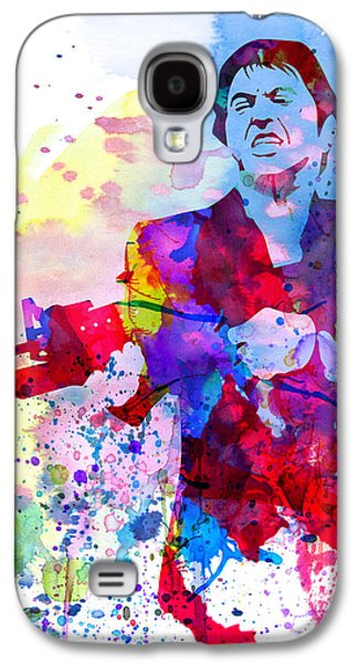 Scarface Galaxy S4 Cases - Scar Watercolor Galaxy S4 Case by Naxart Studio