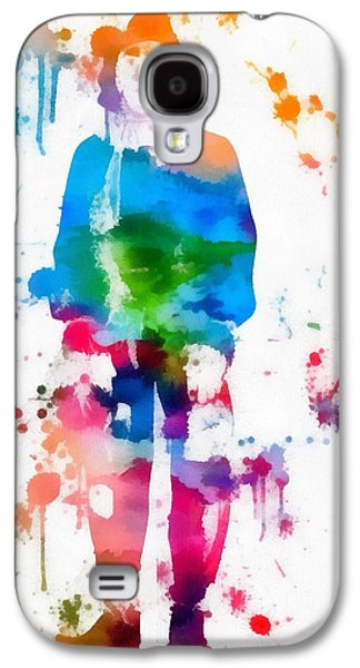 Brain Paintings Galaxy S4 Cases - Scarecrow Wizard Of Oz Paint Splatter Galaxy S4 Case by Dan Sproul