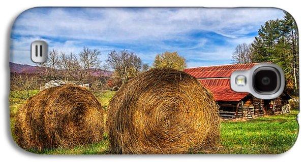Tennessee Hay Bales Galaxy S4 Cases - Scarecrows Dream Galaxy S4 Case by Debra and Dave Vanderlaan