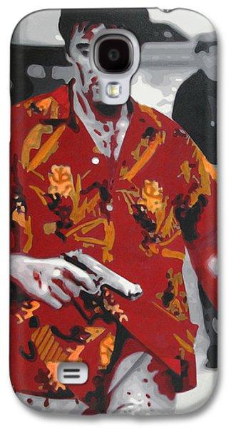 Ludzska Galaxy S4 Cases - Scarface 2013 Galaxy S4 Case by Luis Ludzska