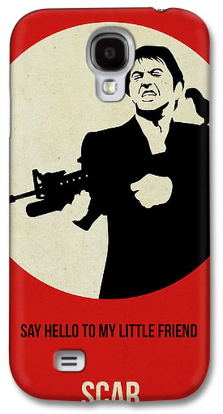 Scarface Galaxy S4 Cases - Scarface Poster Galaxy S4 Case by Naxart Studio