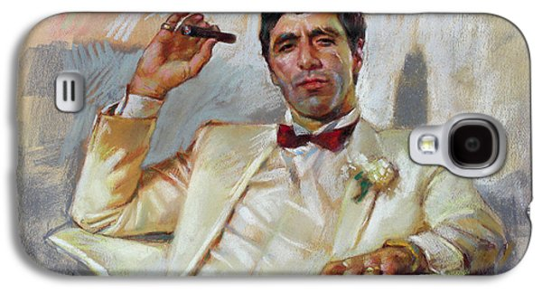Celebrities Pastels Galaxy S4 Cases - Scarface Galaxy S4 Case by Ylli Haruni