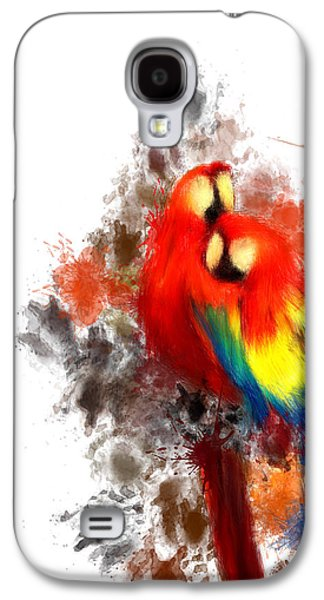Scarlet Macaw Galaxy S4 Case by Lourry Legarde