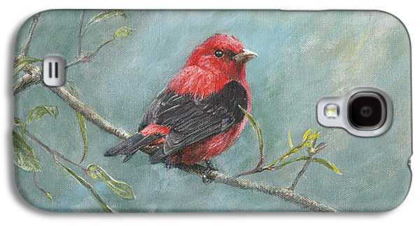 Ornithology Paintings Galaxy S4 Cases - Scarlet Tanager Galaxy S4 Case by Rob Dreyer AFC