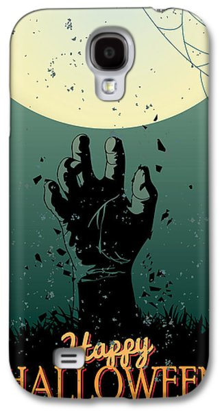 Halloween Digital Art Galaxy S4 Cases - Scary Halloween Galaxy S4 Case by Gianfranco Weiss