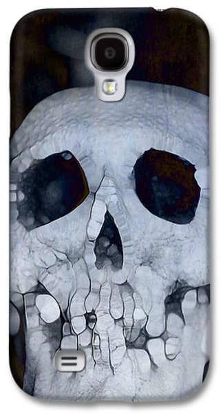 The Houses Mixed Media Galaxy S4 Cases - Scary Skull Galaxy S4 Case by Dan Sproul