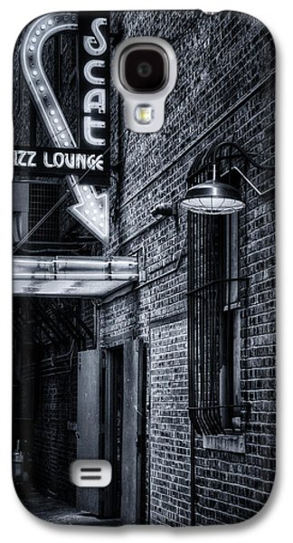Scat Lounge In Cool Black And White Galaxy S4 Case by Joan Carroll