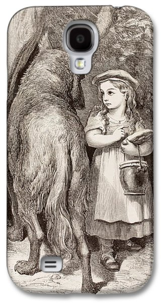 Scene From Little Red Riding Hood Galaxy S4 Case by Gustave Dore