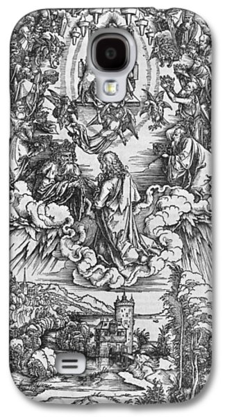 St John The Evangelist Galaxy S4 Cases - Scene from the Apocalypse Galaxy S4 Case by Albrecht Durer or Duerer