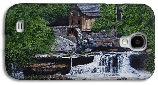 Grist Mill Paintings Galaxy S4 Cases - Scenic Grist Mill Galaxy S4 Case by Vicky Path