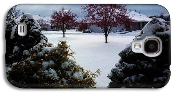 Winter Scene Pastels Galaxy S4 Cases - Scenic Winter Galaxy S4 Case by Jo-Ann Hayden