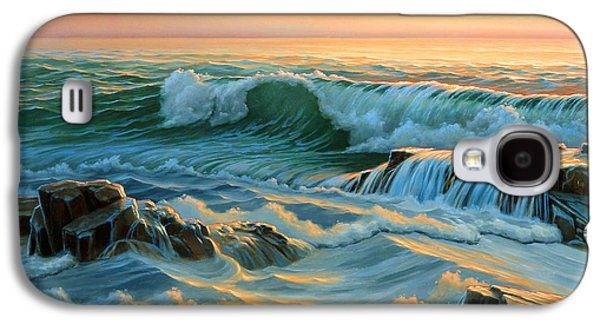 Maine Paintings Galaxy S4 Cases - Schoodic Point before Sunrise  Galaxy S4 Case by Paul Krapf