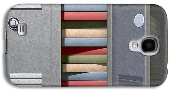 Schools Galaxy S4 Cases - School Locker Crammed Books Galaxy S4 Case by Allan Swart