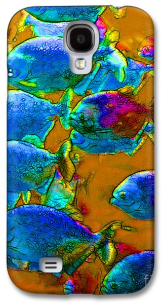 Piranha Galaxy S4 Cases - School of Piranha v1 Galaxy S4 Case by Wingsdomain Art and Photography