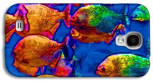 Schools Of Fish Galaxy S4 Cases - School of Piranha v3 - square Galaxy S4 Case by Wingsdomain Art and Photography