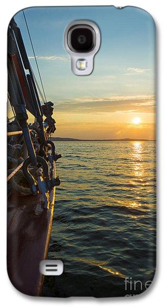 Sailing Ship Galaxy S4 Cases - Schooner Sunset Galaxy S4 Case by Diane Diederich