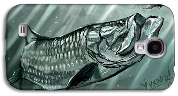 Shark Digital Art Galaxy S4 Cases - Scooping The Feathers  Galaxy S4 Case by Yusniel Santos