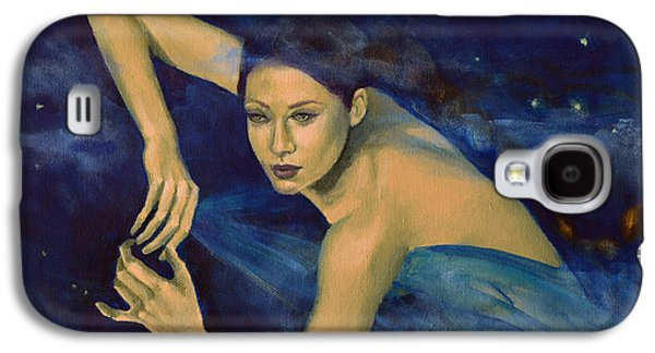 Constellations Paintings Galaxy S4 Cases - Scorpio from Zodiac series Galaxy S4 Case by Dorina  Costras