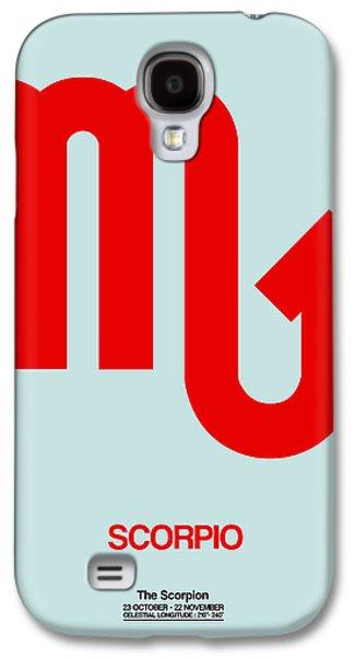 Virgo Galaxy S4 Cases - Scorpio Zodiac Sign Red Galaxy S4 Case by Naxart Studio