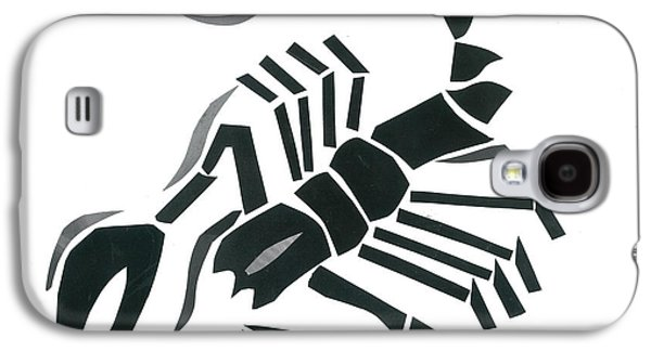 Invertebrates Mixed Media Galaxy S4 Cases - Scorpion Galaxy S4 Case by Earl ContehMorgan