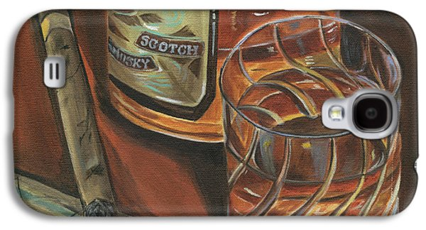 Alcohol Galaxy S4 Cases - Scotch and Cigars 3 Galaxy S4 Case by Debbie DeWitt